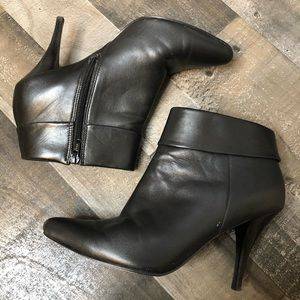 Bakers Black Destiny High Heel Leather Ankle Boots